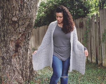 Oversized scarf, oversized shawl, oversized scarf shawl,scarf shawl,rectangle shawl,crochet shawl,crochet scarf,gray shawl,blanket scarf