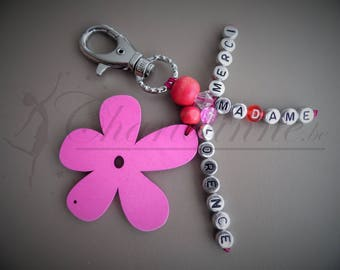 Key ring personalized with message
