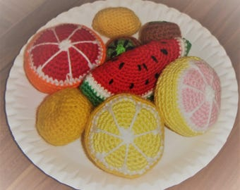Self-crochet fruit plate - 8pcs