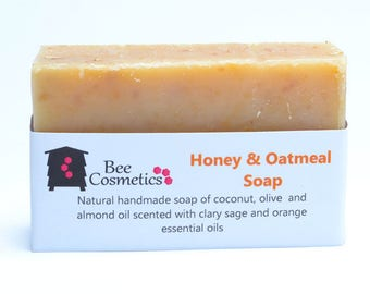 Honey and oatmeal beeswax soap