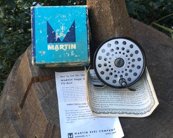 Martin Model 60 Fly Reel Single Action in Box with Papers