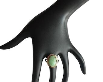 10k Jade ring