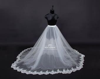 Lace Bridal Overskirt #101, Tulle Bridal Overskirt , Detachable Overskirt, Wedding Skirt, Custom Bridal Skirt, Custom Tulle Skirt
