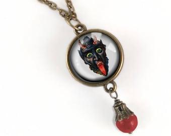 Krampus Pendant necklace- Krampus