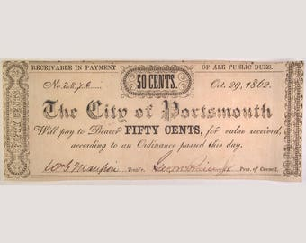 1862 The City of Portsmouth – Portsmouth, Virginia