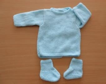 Bra + booties newborn boy