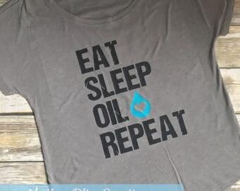 Eat Sleep Oil Repeat | Essential Oil Shirt | Young Living | Motherhood | Oils | YL Distributor