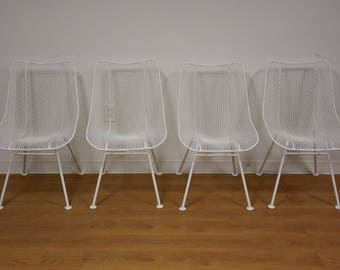Russell Woodard 'Sculptura' Patio Dining Chairs- Set of 4