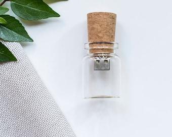 10x 16gb Glass Bottle USB drive