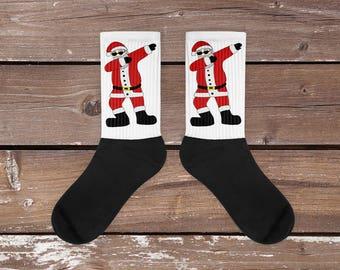 Funny Dabbing Santa Socks | Christmas Cozy Socks