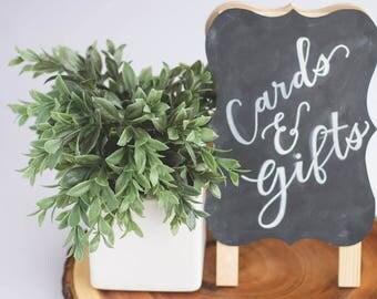 Wedding Chalkboard | Cards and Gifts Chalkboard | Custom Wedding Decor | Custom Chalk Art