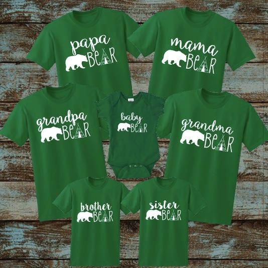 Mama Bear Papa Bear Baby Bear Brother Bear Sister Bear