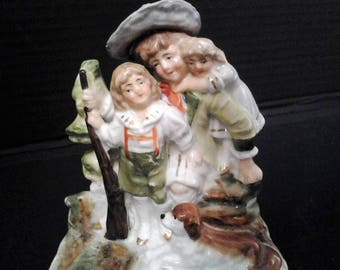 German Rip Van Winkle Figurine - Rip Van Winkle and Children -