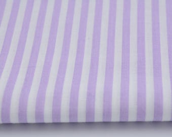 100% cotton printed 50 x 160 cm stripes purple 0.5 cm