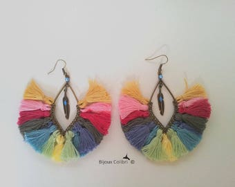 Quetzalcoatl multicolor earrings