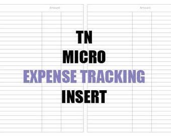 Micro Expense Tracking Insert