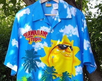 Hawaiian Tropic Camp Shirt Men's Size XL