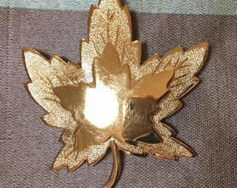 Monet Vintage Goldtone Leaf Pin