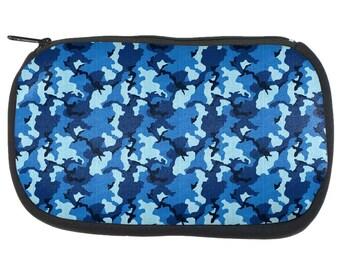 Navy Blue Camo Pencil Pouch