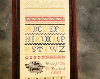 PAT ROZENDAL The Embroidery Studio Sampler I Band Sampler Cross Stitch Kit