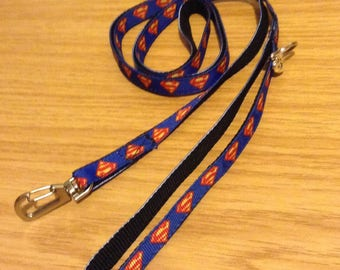 Superman logo puppy/dog leash