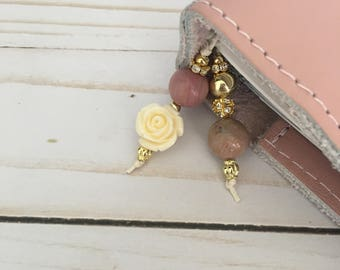 Planner Charm/Bookmark- Flower