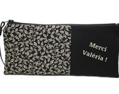 RESERVED: pencil case custom fabric, end year gift, personalized gift, personalized clutch