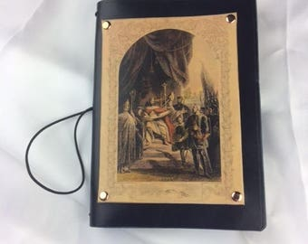 A5 leather notebook cover, laser printed picture of the signing of the Magna Carta.