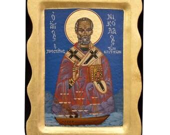 Saint Nicholas Orthodox Icon Byzantine Icon Religious Icon