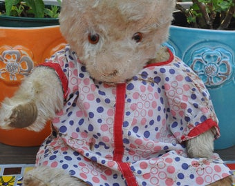 """Sweet 17"""" vintage Chiltern Hugmee teddy bear"""