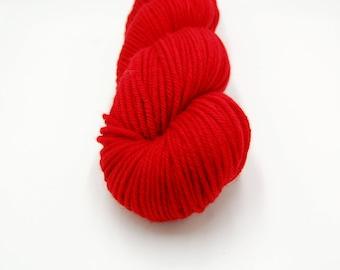 Merino Worsted Hand Dyed Yarn - Maraschino