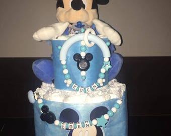 Diaper cake Mickey personalized