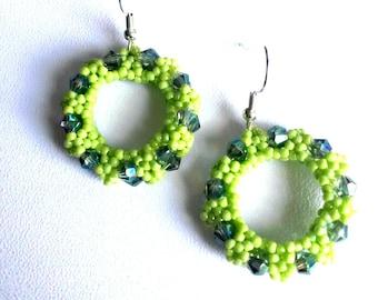 Cod 02601 earrings Green Apple
