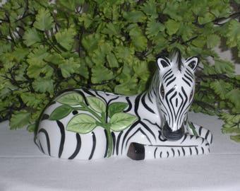 Ceramic Bank Zebra by Lynn Chase Jungle Party