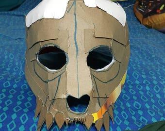 Unfinished cardboard skull mask