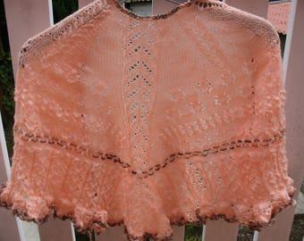 Beautiful shawl LACY powder pink