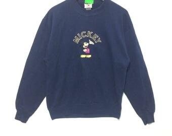 Vintage Disney Mickey Mouse Crewneck Sweatshirt Blue COlor
