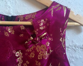 Oriental brocade shift dress