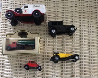 Vintage Toy Car Collector Lot, All Marked, 5 Vehicles