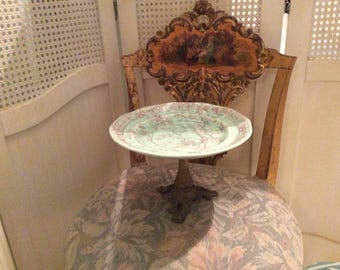 Antique Adams England Calyx Ware, Singapore Pedestal Cake or Serving Plate