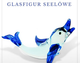 Fabulous glass figurine - sea lion