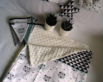 couverture minky etsy. Black Bedroom Furniture Sets. Home Design Ideas
