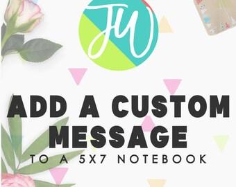 Add A Custom Message To My Notebook Please | JW Gifts | Jw Baptism | Jehovah's Witnesses | JW | JW Journal | Jw Notebook
