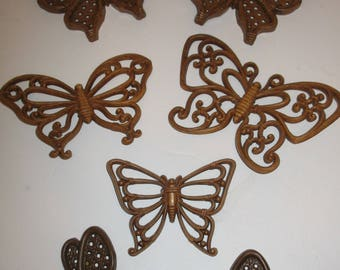 Brown Butterfly Wall Plaques
