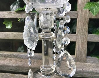 Hand-decorated Vintage Candlestick