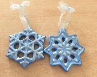 Snowflake tree ornaments