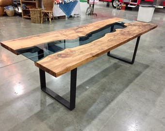 Spalted Maple River Dining Table *Message for shipoing quote**