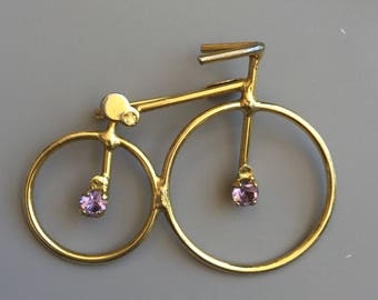 Vintage Old Style Bicycle Safety Pin / Brooch  .