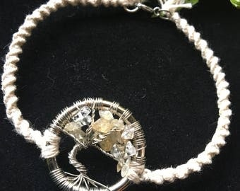 Citrine Tree of Life Bracelet