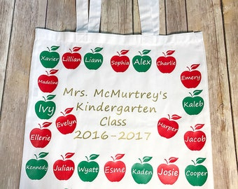 Personalized teacher tote, teacher gifts